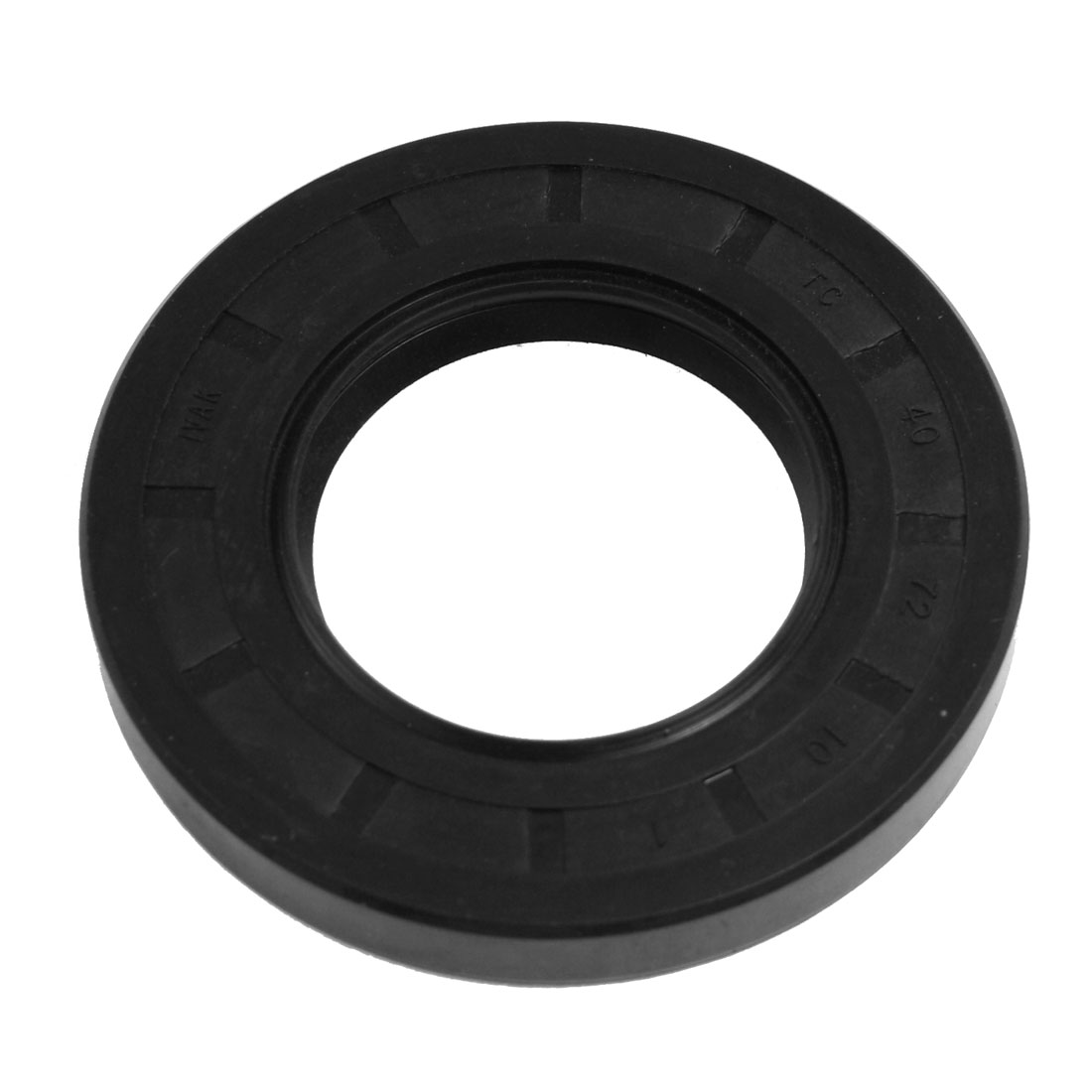 40mm x 72mm x 10mm Steel Spring TC Double Lip Oil Shaft Seal Black