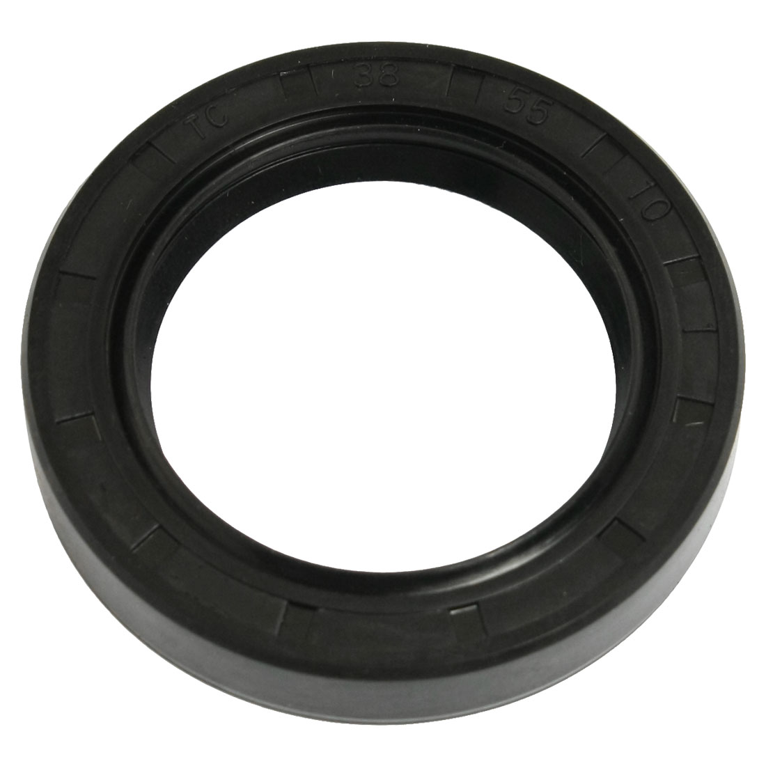 Nitrile Rubber Double Lip TC Oil Seal Black 38mm x 55mm x 10mm