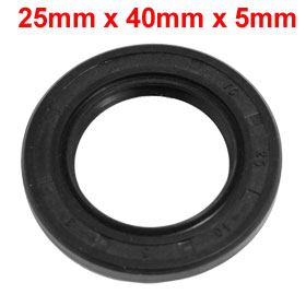 25mm x 40mm x 5mm Nitrile Rubber TC Double Lip Rotary Shaft Oil Seal Black