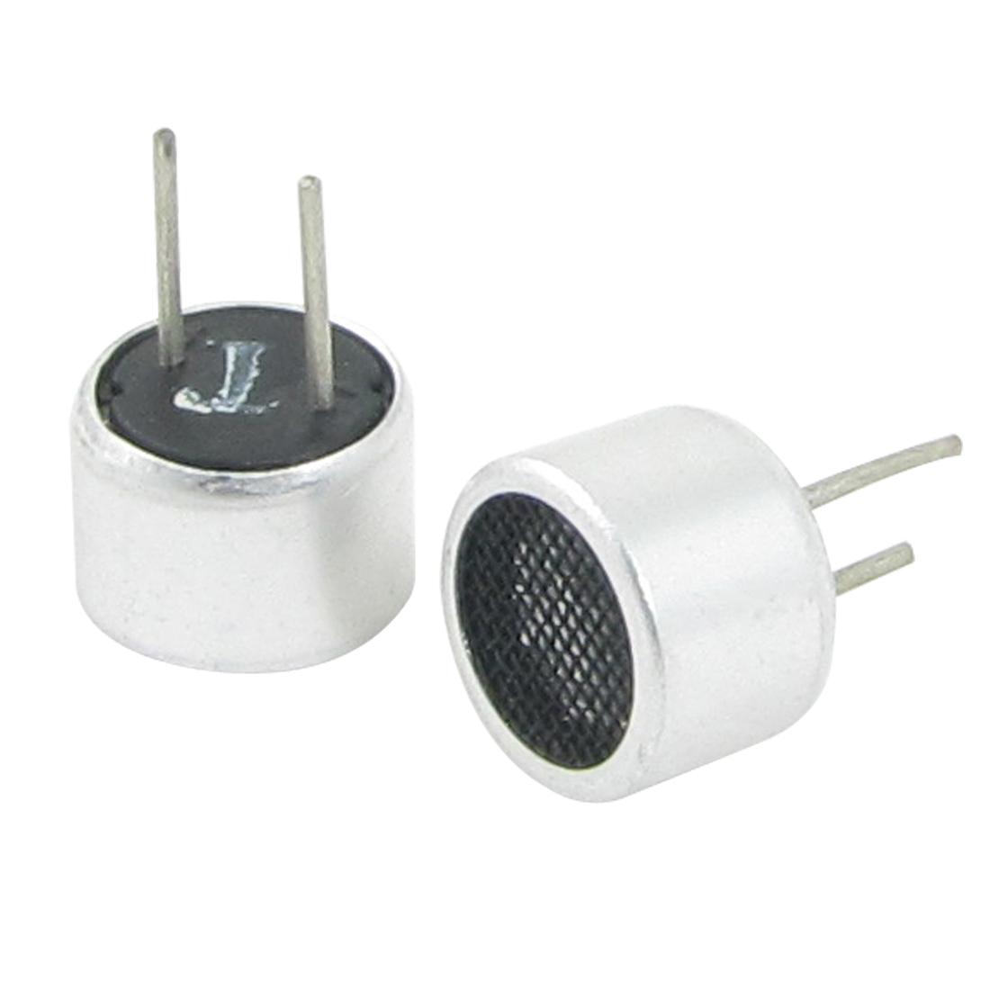 Pair Aluminum Housing 40KHz Ultrasonic Transducer Transmitter Receiver 9.8mm