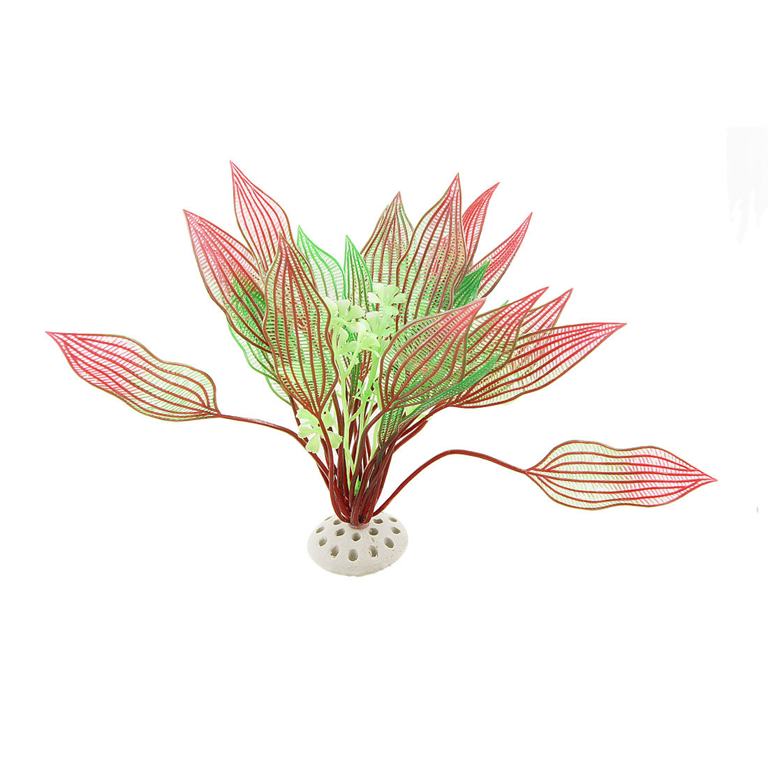 Fish Tank Hollow Out Leaves Plastic Plant Decor Aquascaping Green Red
