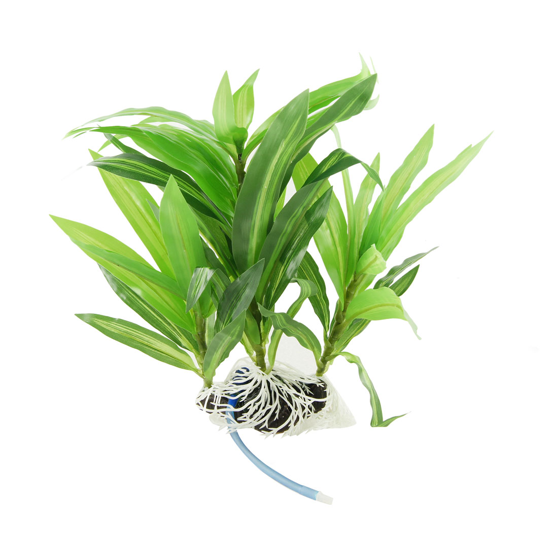 "Green Narrow Leaves 12.2"" High Plastic Plant Decoration for Fish Tank"