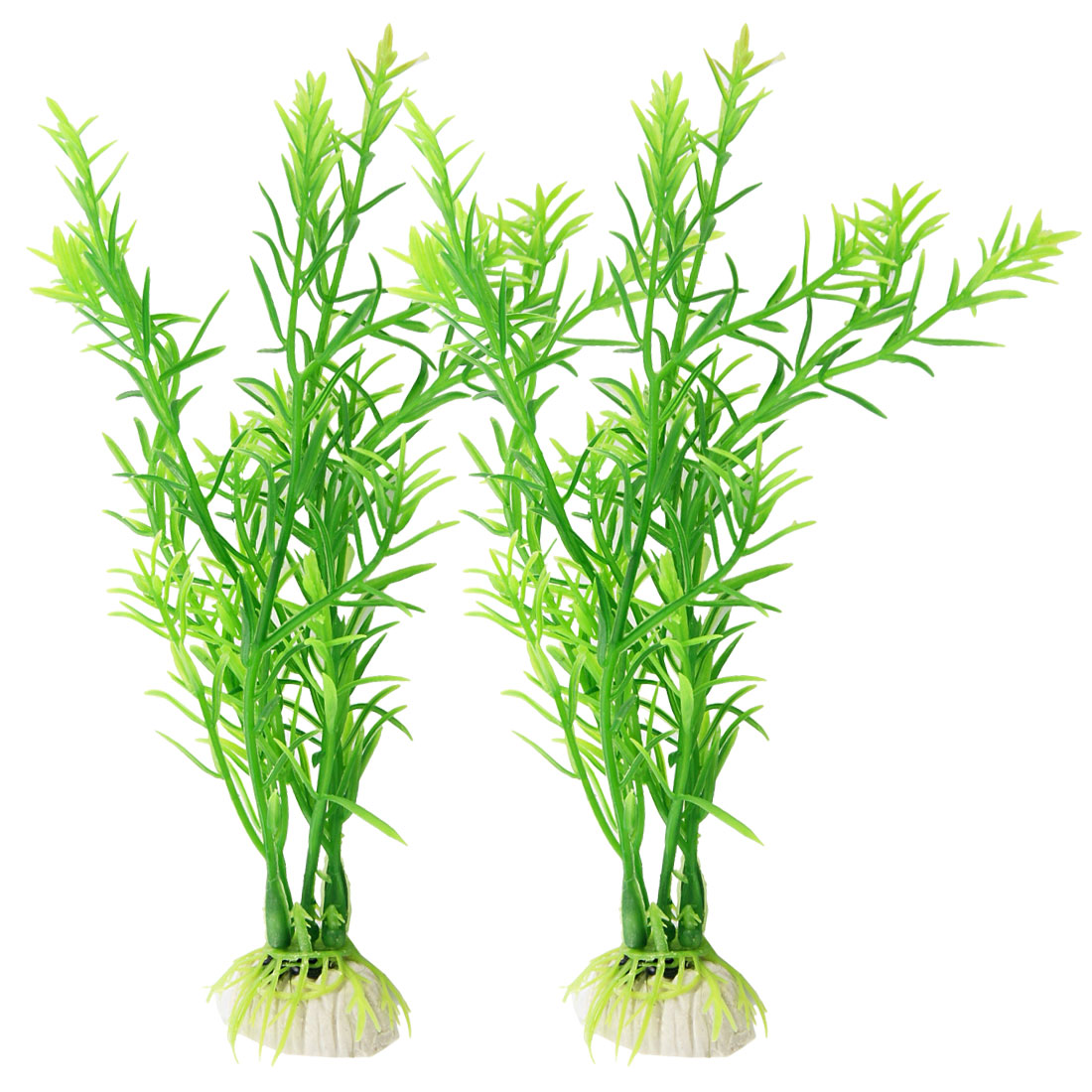 2 Pcs Green Plastic Water Plants Decoration for Aquarium