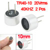 Pair Aluminum Housing 40KHz Ultrasonic Transducer Transmitter Receiver 9.8mm