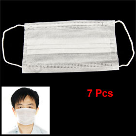 7 Pcs White Surgical Medical Mouth Face Protective Masks