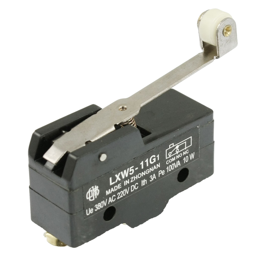 Pe 100VA 10W Ith 3A Long Hinge Roller Lever AC DC Basic Micro Switch LXW5-11G1
