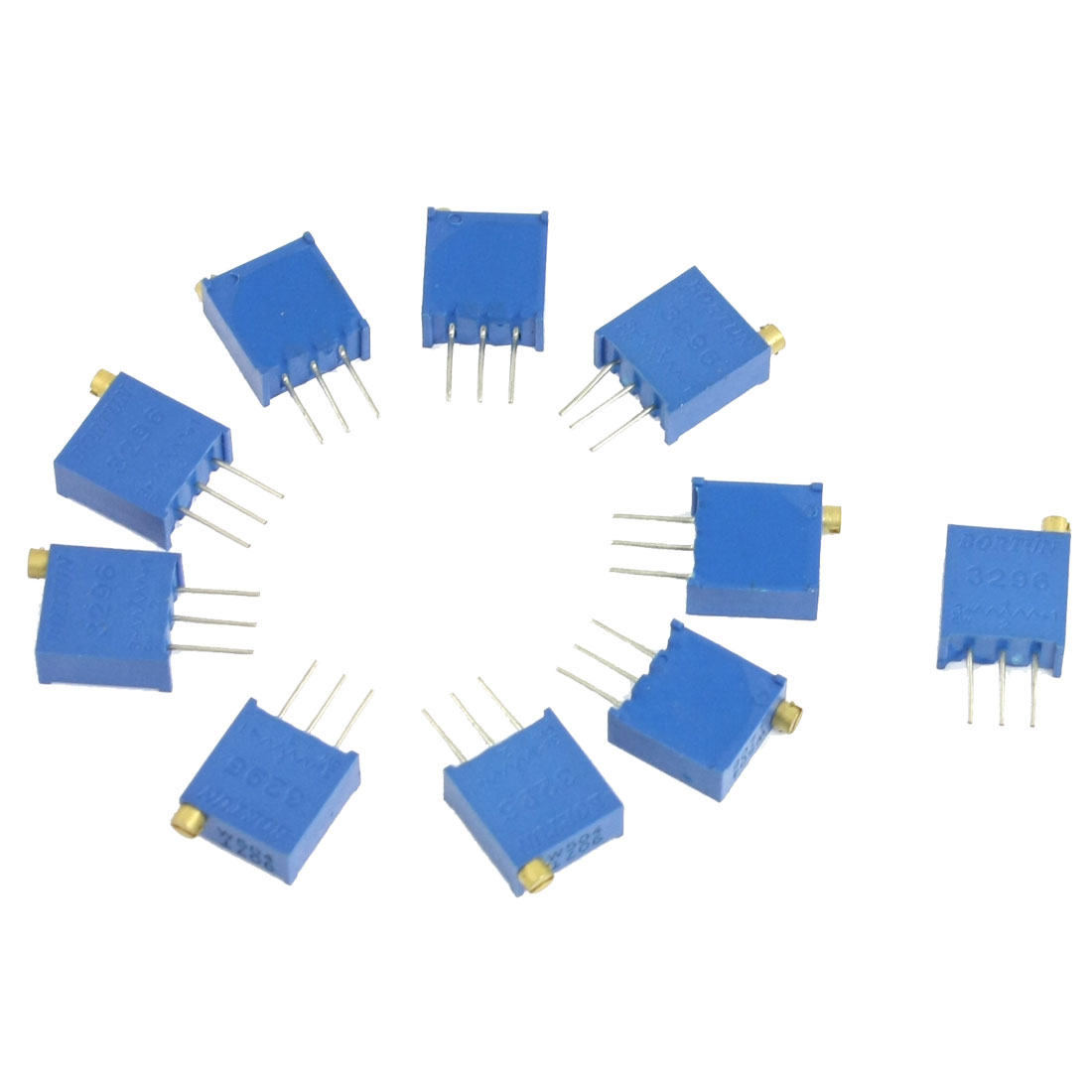 10 Pcs 3296W 1K Ohm Trim Pot Trimmer Potentiometer 1/2W