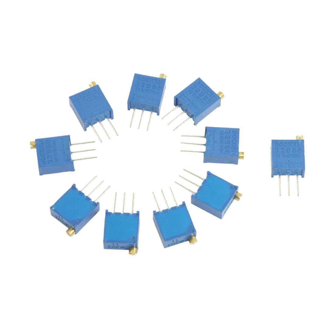 10 Pcs Variable Resistor Trimmer Potentiometer 20K Ohm 3296W