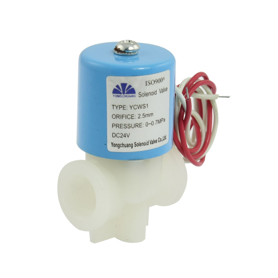 "DC 24V Direct Acting 1/4"" NPT Thread Port Solenoid Valve"