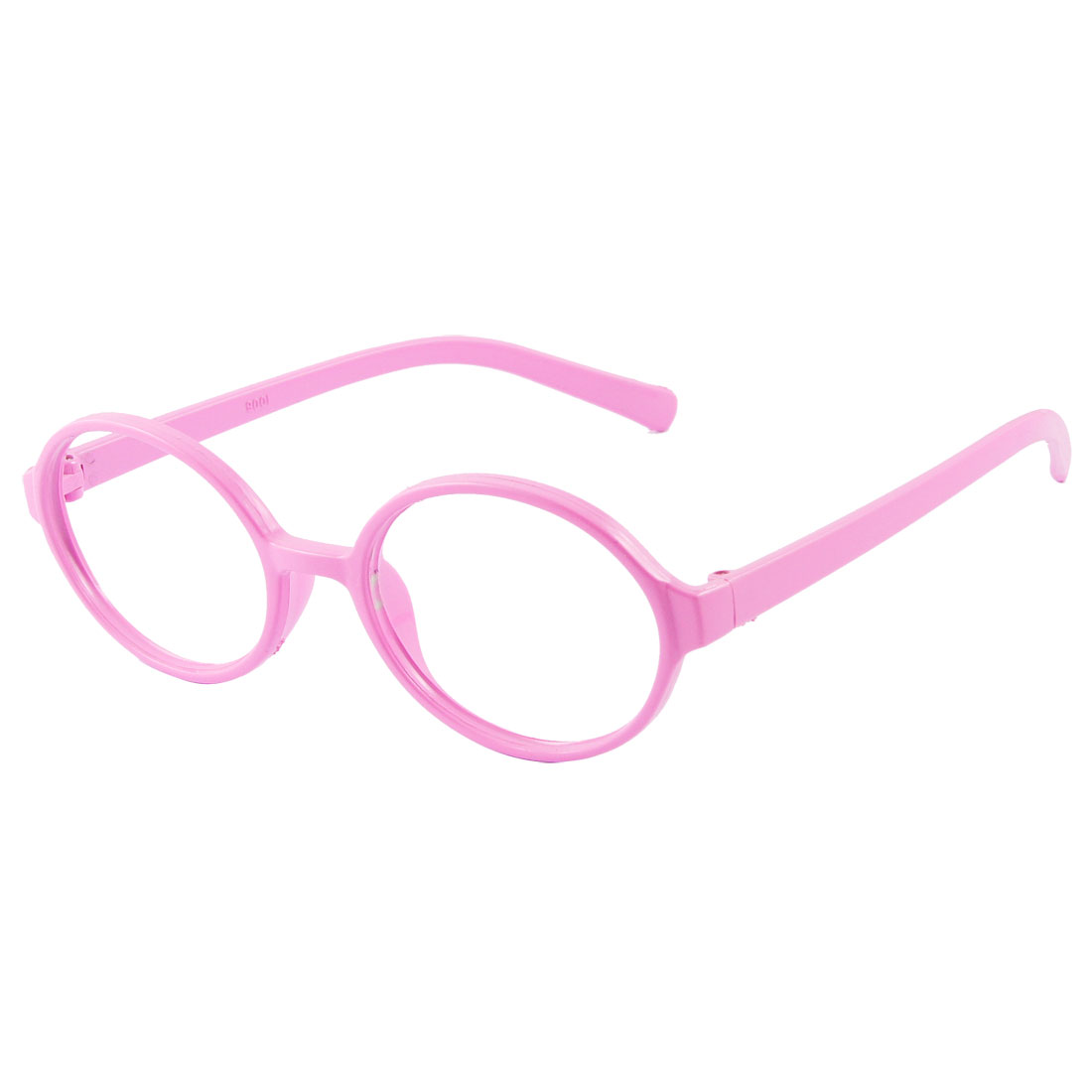 Ladies Pink Plastic Full Rims Round Eyeglasses Frame