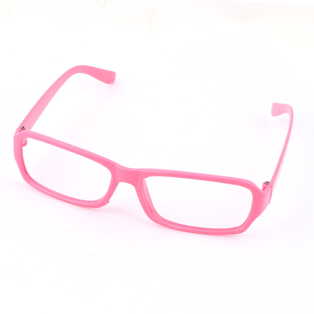 Ladies Pink Plastic Full Rimmed Eyeglasses Frame
