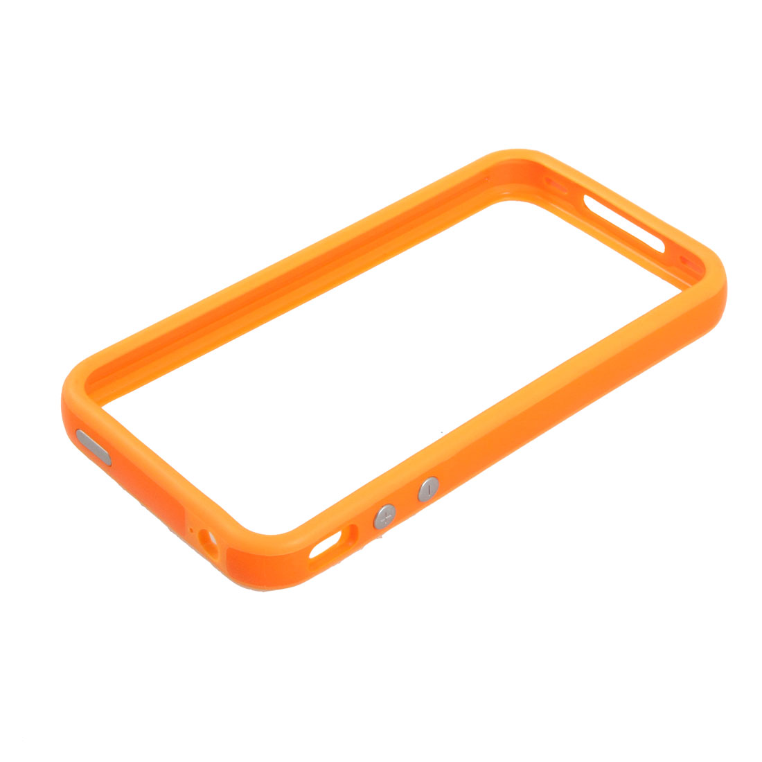 Orange Plastic Mid Frame Case Protector for Apple iPhone 4 4G
