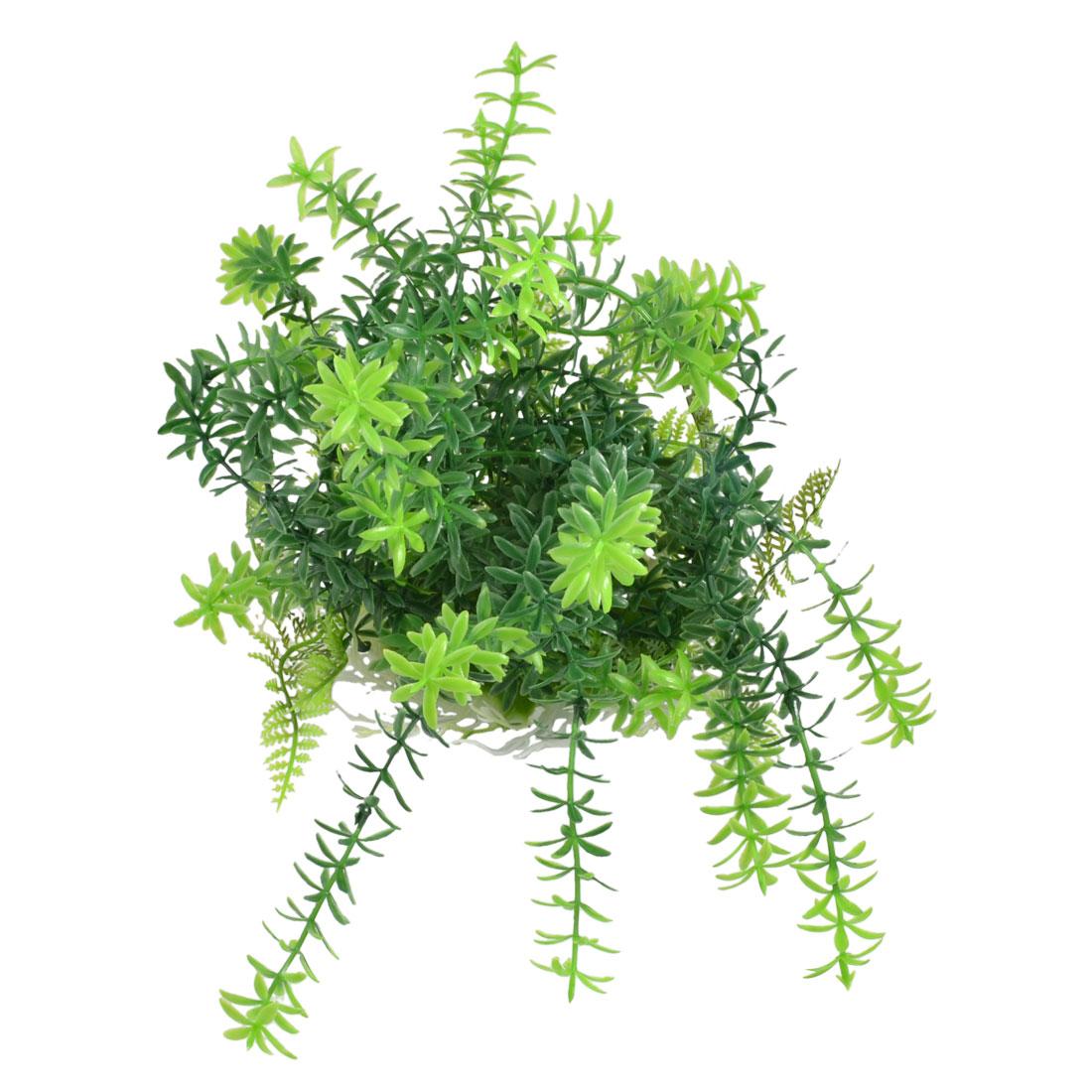 14.5cm High Green Leaves Plastic Plant Decoration for Aquarium