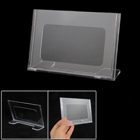 Plastic 15.2 x 10.2 cm Standard Price Menu Table Number Display Holder