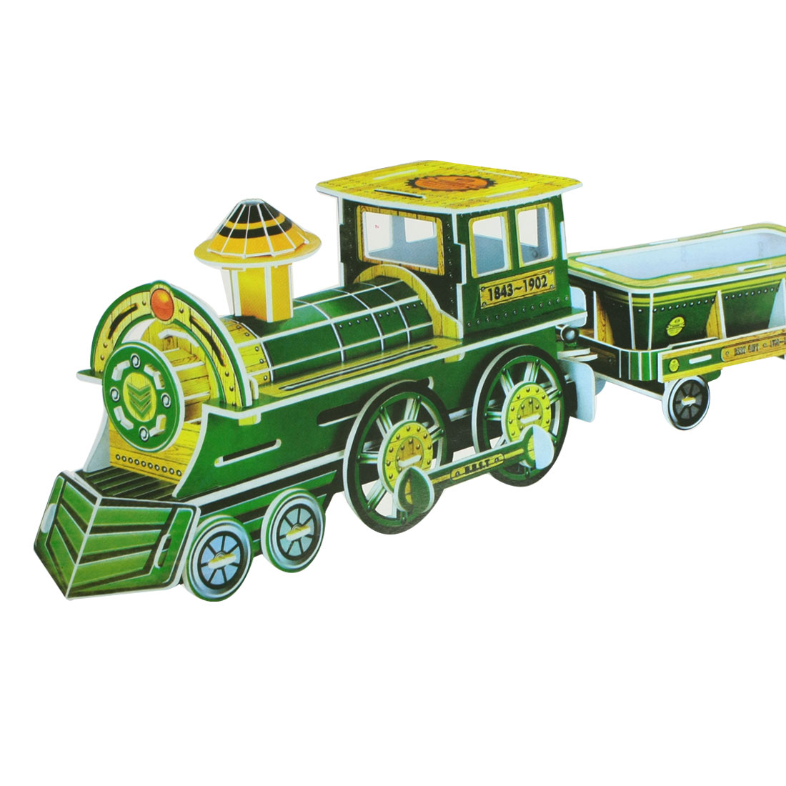 DIY 3D Foam Train Model Piece Together Puzzle Toy for