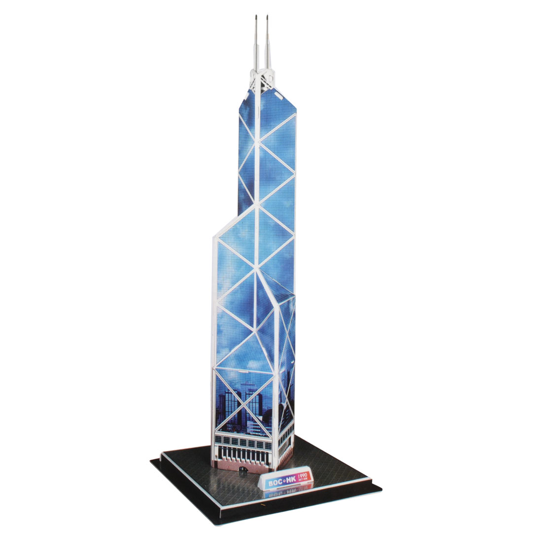 Foam Bank of China Tower Model 3D DIY Assembled Puzzle Toy for Kid