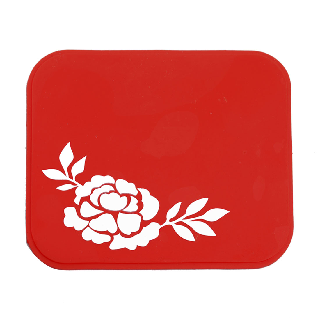 Flower Printed Silicone Gel Red Mobile Holder Anti-slip Pad Mat