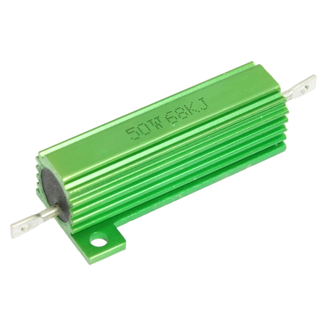 Green 50 Watt 68K Ohm 5% Aluminum Shell Wire Wound Resistor