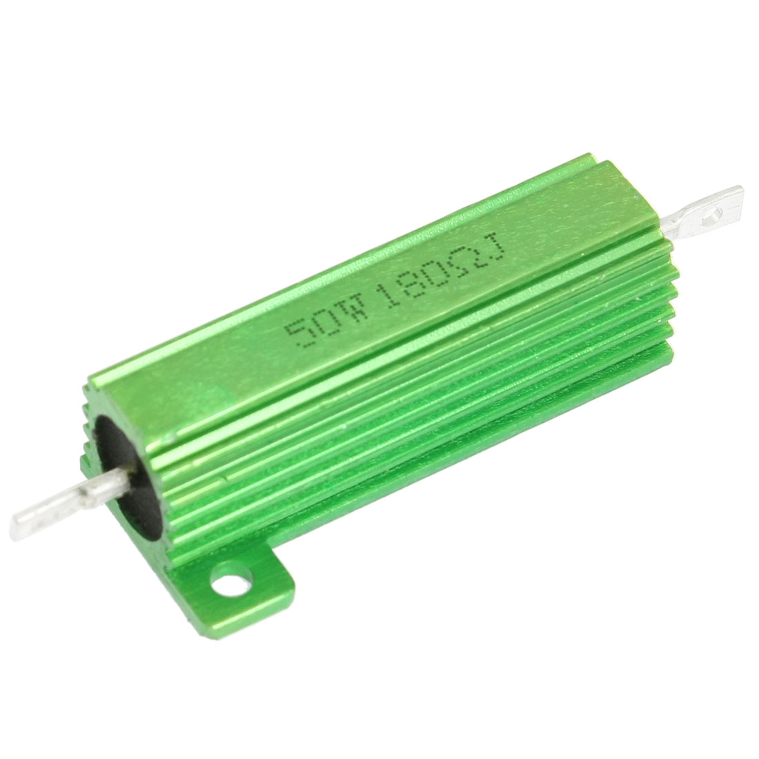 50W 180 Ohm Chassis Mounted Green Aluminum Case Wirewound Resistor