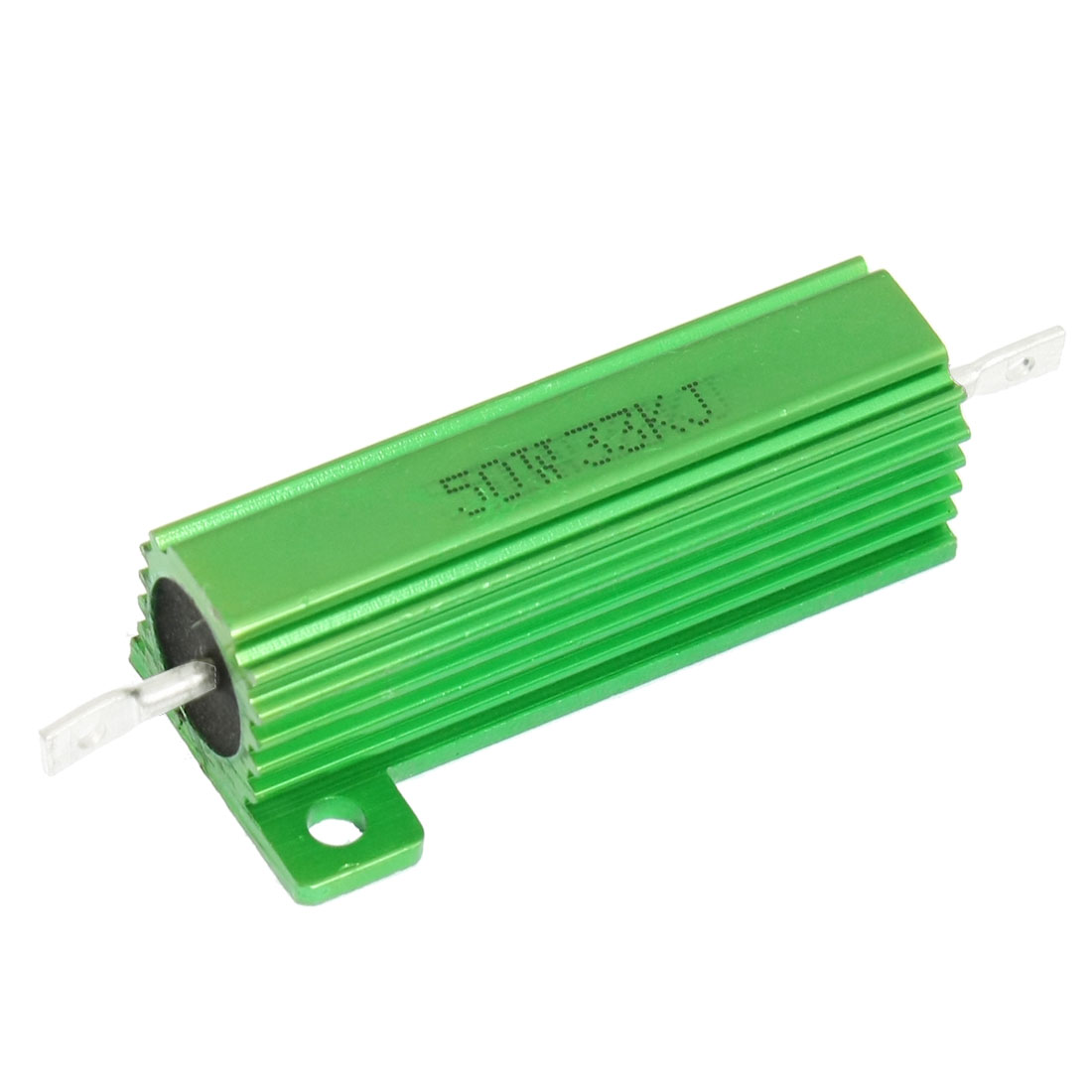 50W 33K Ohm Screw Tap Mounted Green Aluminum Housed Wirewound Resistor