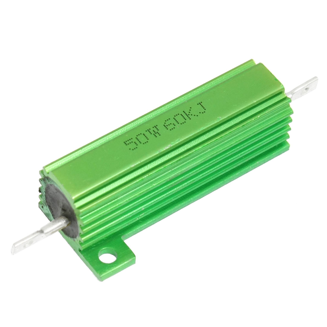 Chassis Mounted 50W 60K Ohm Green Aluminum Wirewound Resistor
