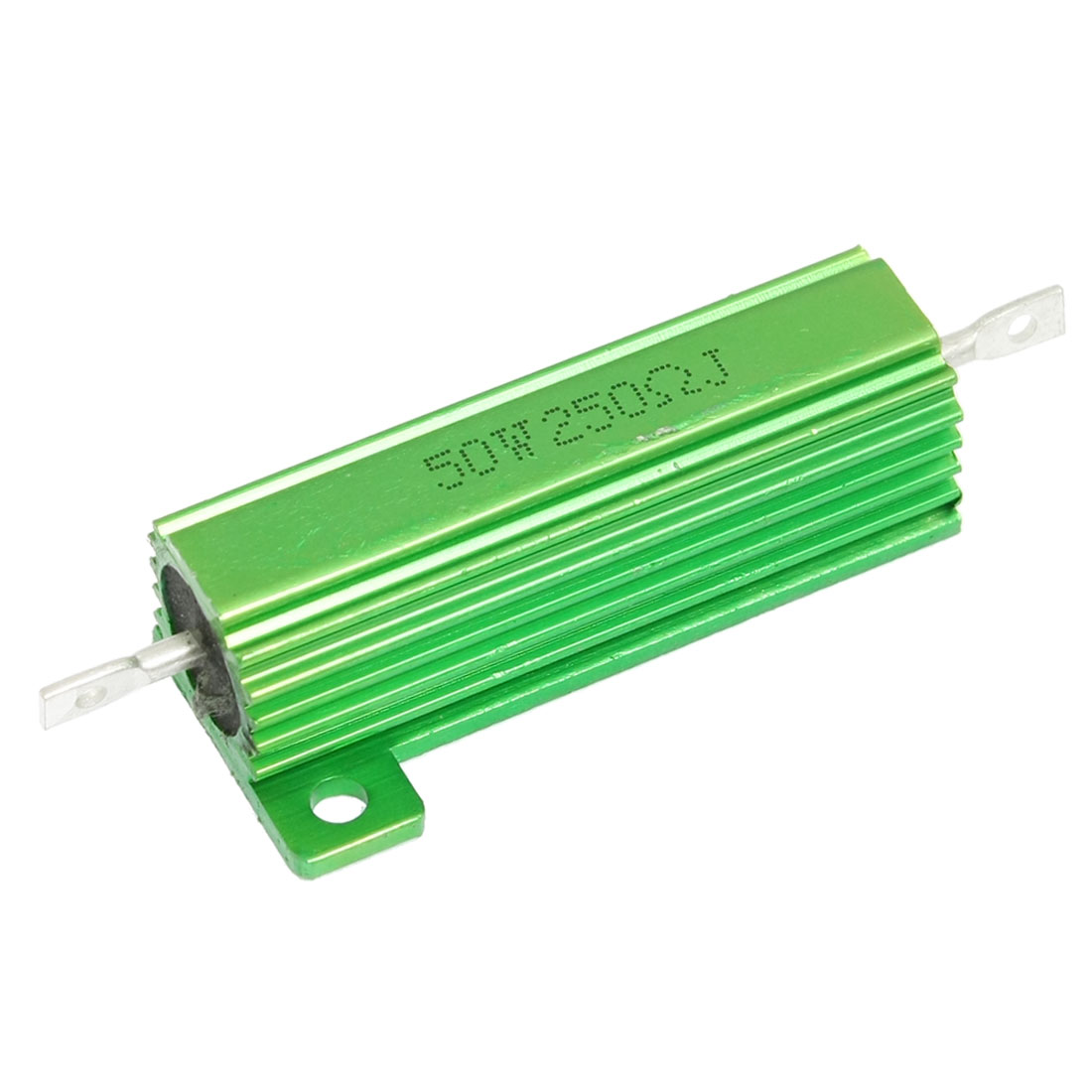250 Ohm 50W Green Aluminum Chassis Mounted Housed Wirewound Resistor