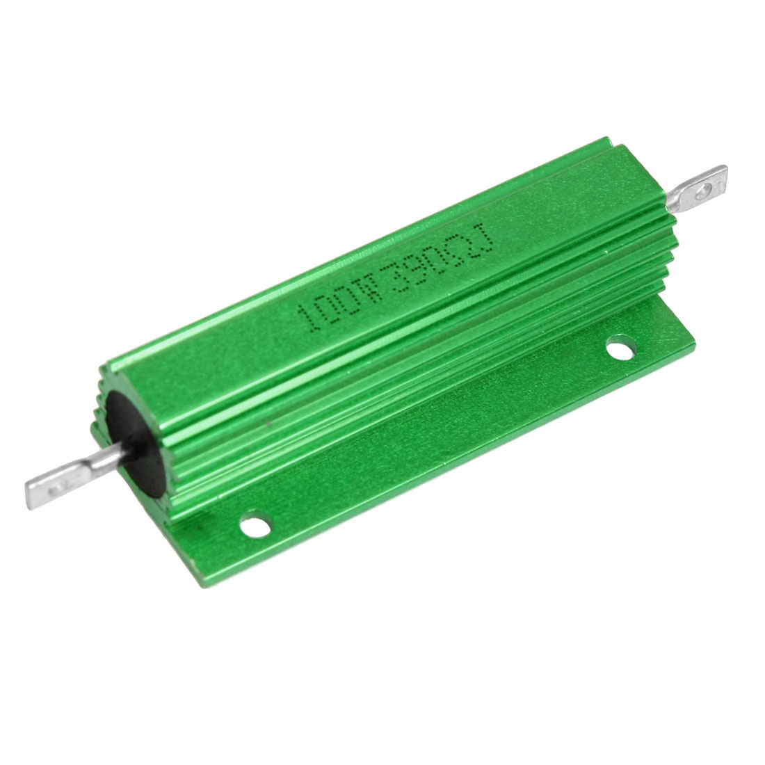 100W 390 Ohm Screw Tap Mounted Green Aluminum Housed Resistor