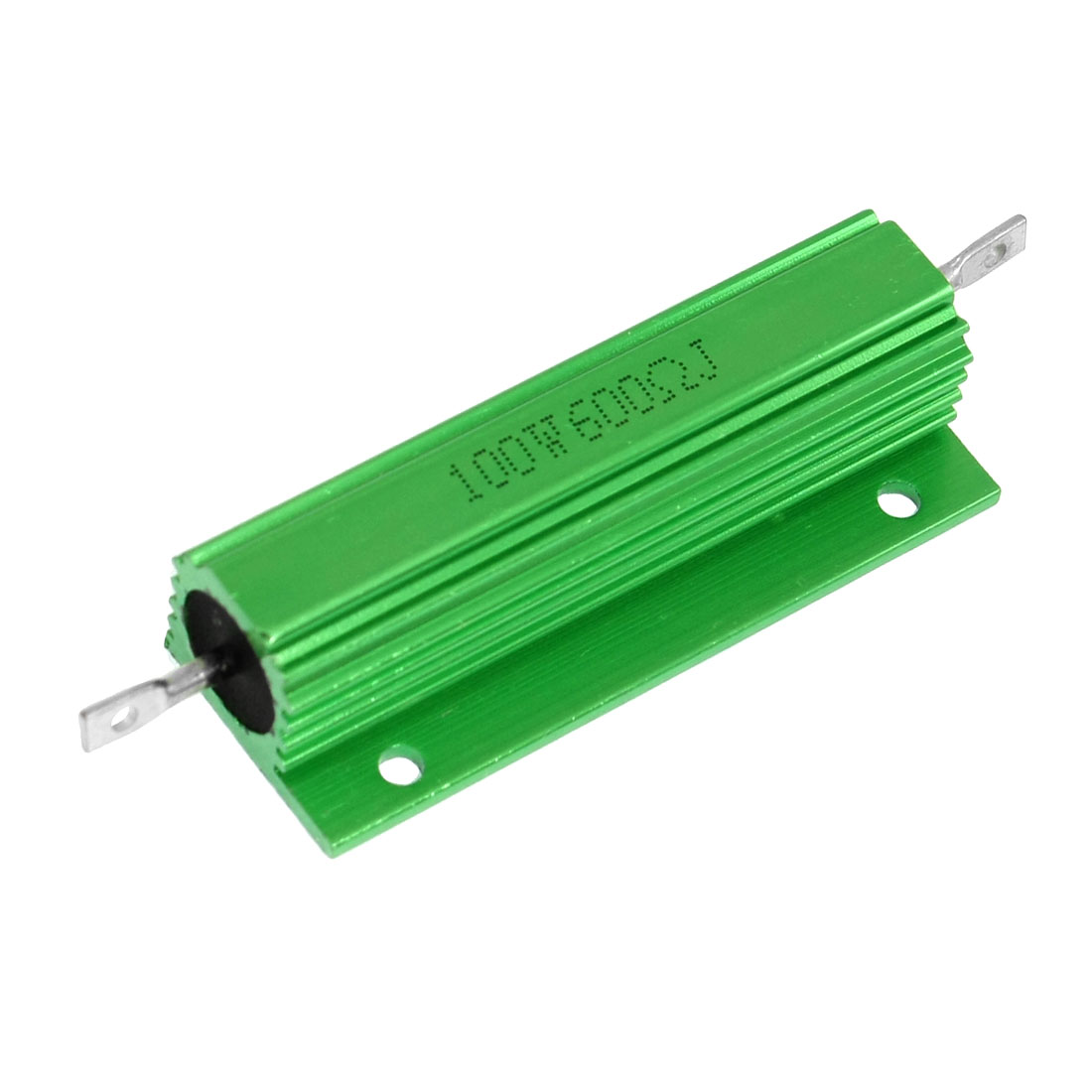 100W 600 Ohm Green Aluminum Case Wire Wound Housed Resistor
