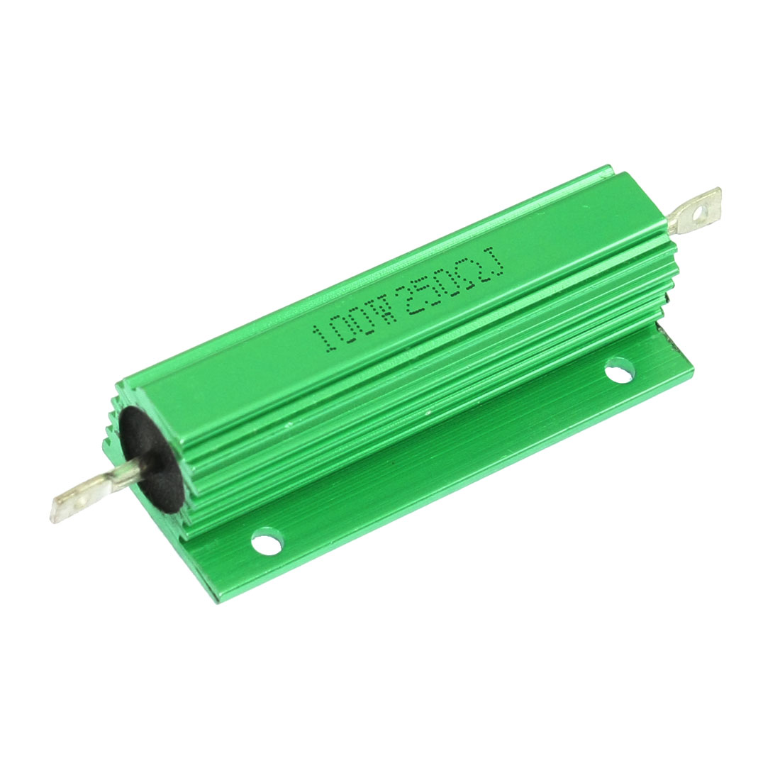 100W 250 Ohm Chassis Mounted Green Aluminum Housed Resistor