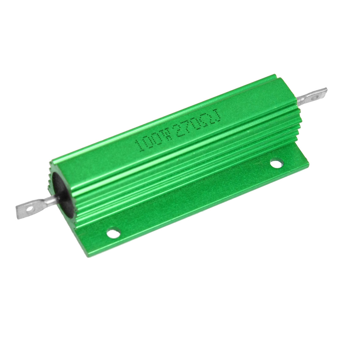 100W 270 Ohm Green Aluminum Case Wirewound Housed Resistor