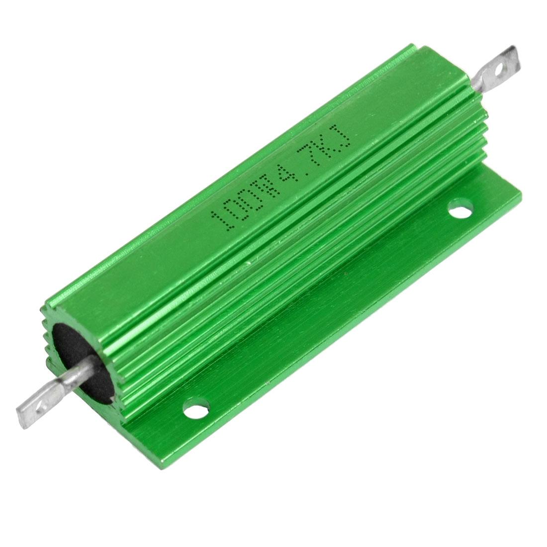 100W 4.7KJ Green Aluminum Shell Wirewound Housed Resistor