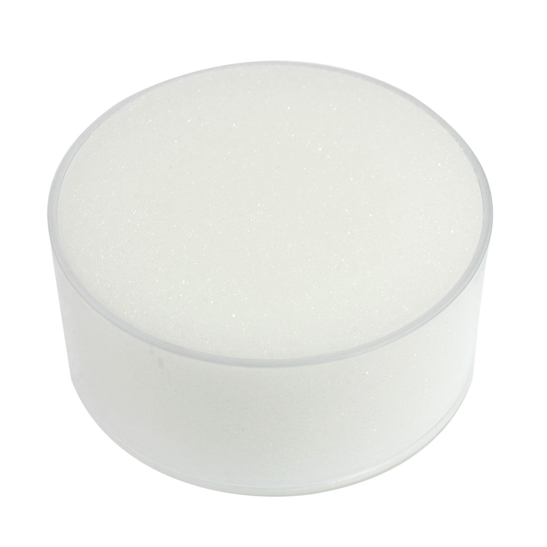 Clear Plastic Round Case White Sponge Finger Wet for Money Casher