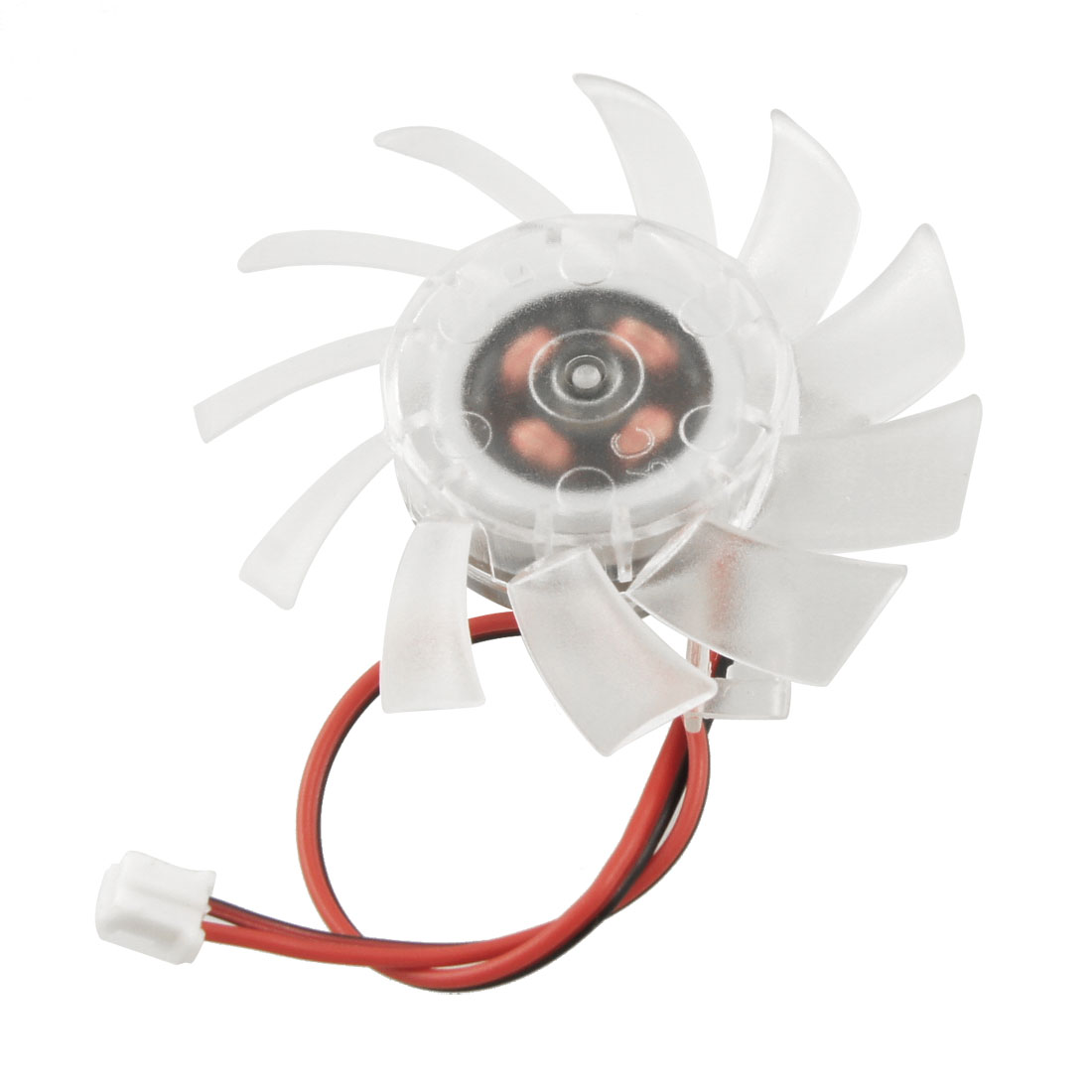 PC 2 Terminals Connector VGA Video Card Cooling Fan Clear 55mm