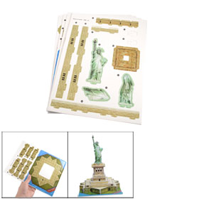 Children Foam Statue of Liberty Design 3D DIY Puzzle Toy