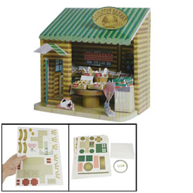 3D DIY Puzzle Foam Paper Bakery Model Educational Toy for Children