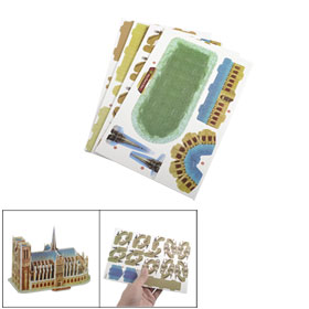 Child Foam Notre Dame de Paris Model 3D DIY Educational Puzzle Toy