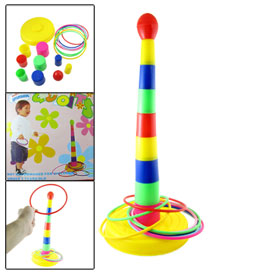Multi Colored Pole Circle Set Toy Family Play Game for Kids