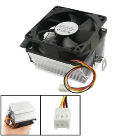 80mm 3 Pins Connector CPU Cooling Fan Heatsink for Desktop