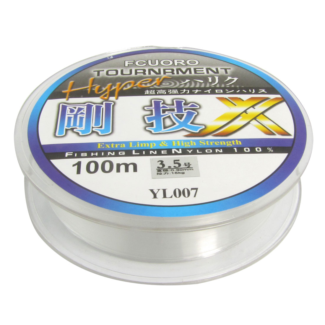3.5# Clear Nylon Thread 0.30mm Dia 15Kg Fishing Line Spool 100M