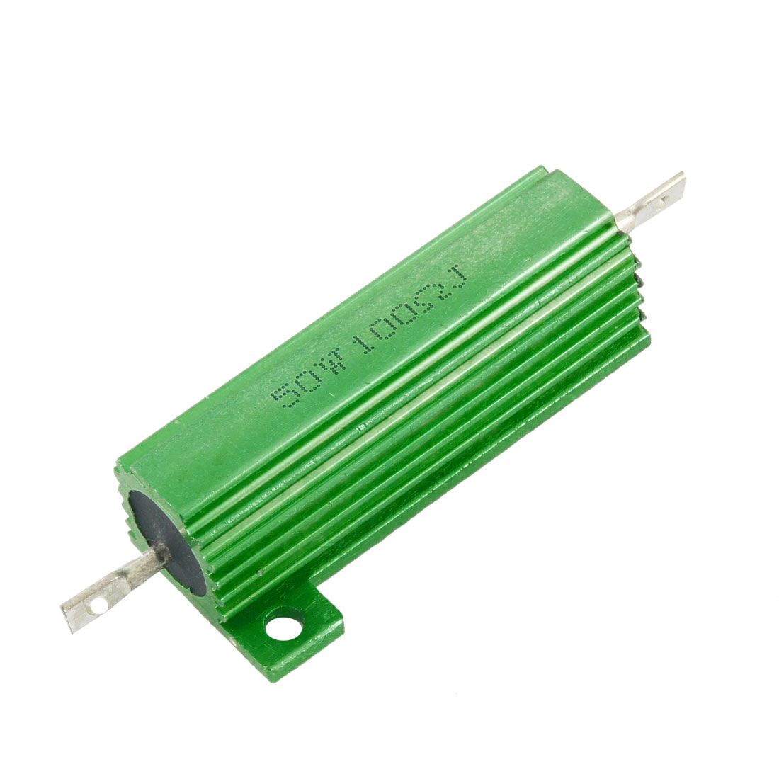 50 Watt 100 Ohm 5% Green Aluminum Shell Wire Wound Resistor