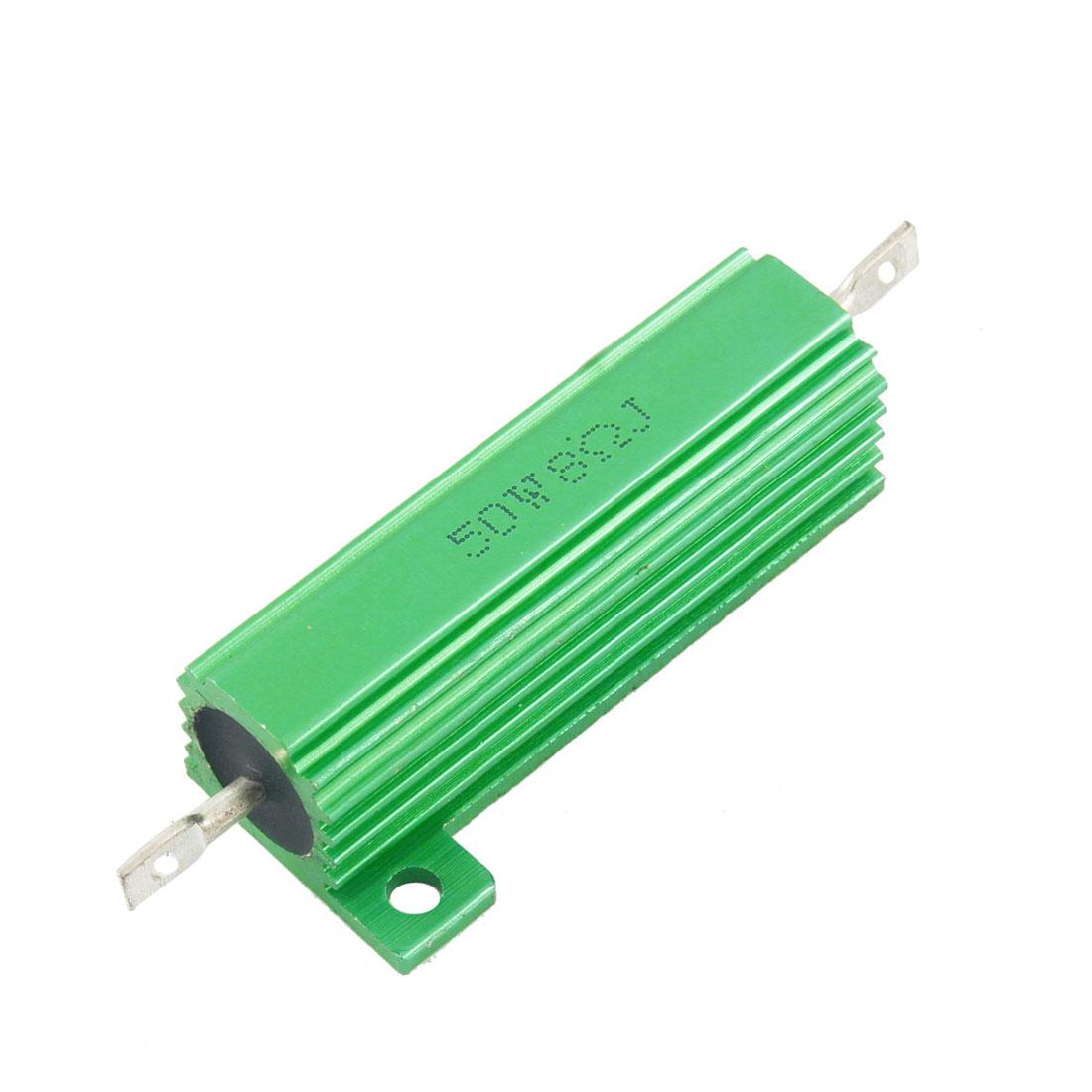 50 Watt 8 Ohm 5% Green Aluminum Shell Wire Wound Resistor