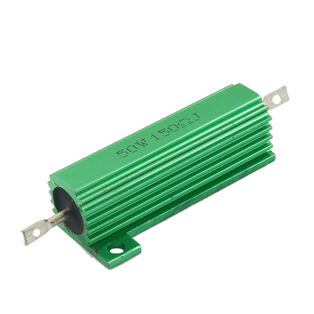 Green 50 Watt 150 Ohm 5% Aluminum Shell Wire Wound Resistor