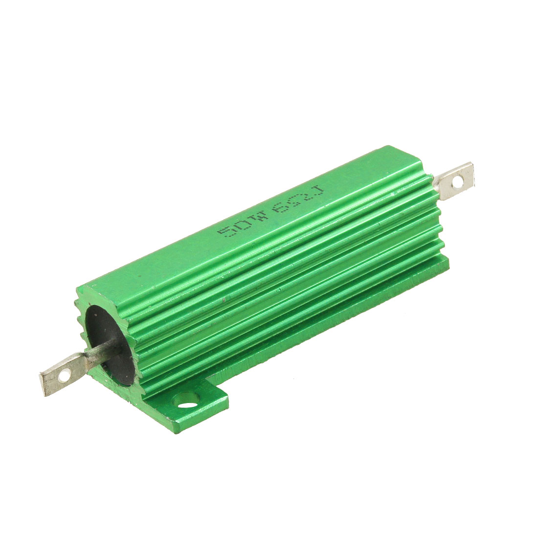 Green 50 Watt 6 Ohm 5% Aluminum Shell Case Wire Wound Resistor