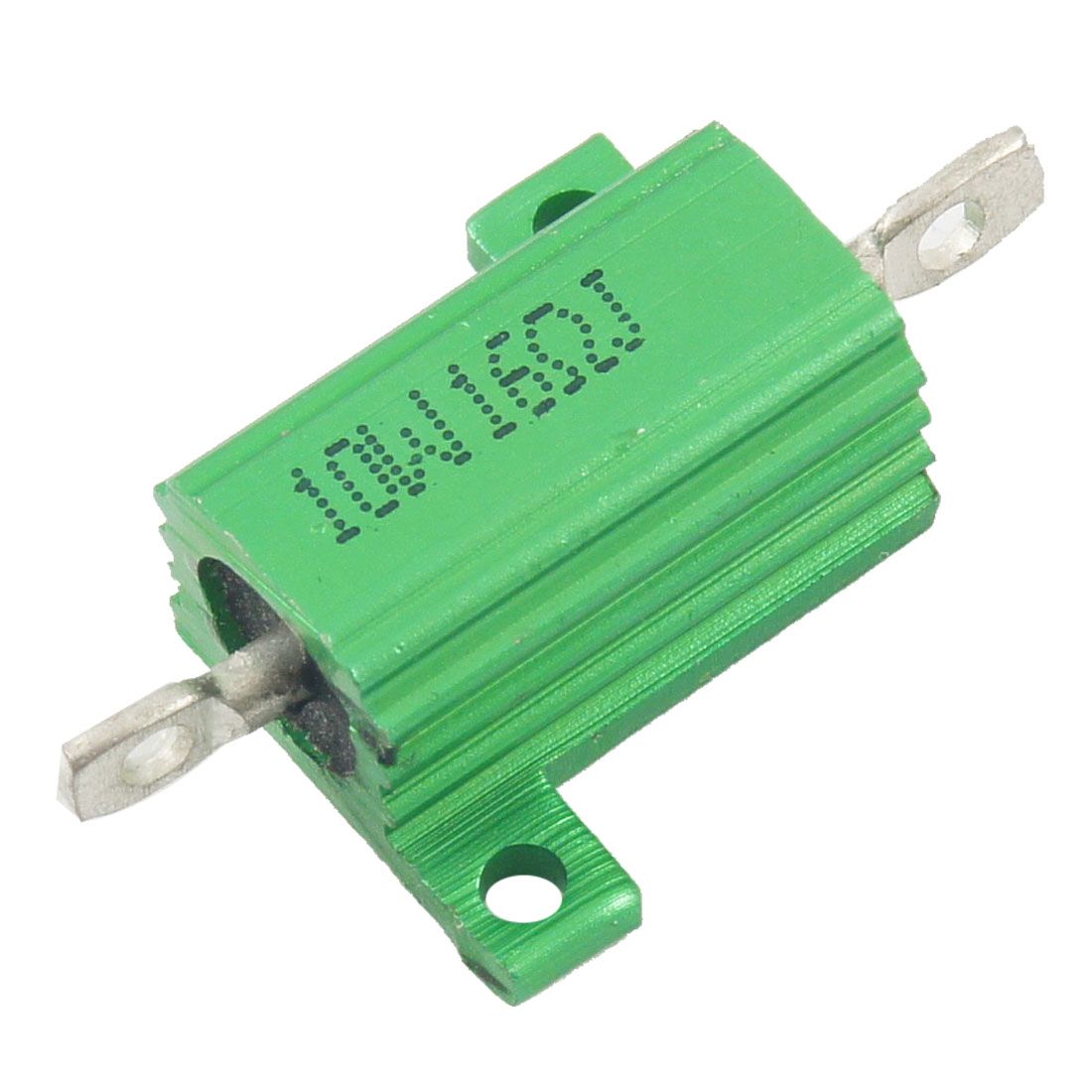 Green 10 Watt 16 Ohm 5% Aluminum Shell Wire Wound Resistor