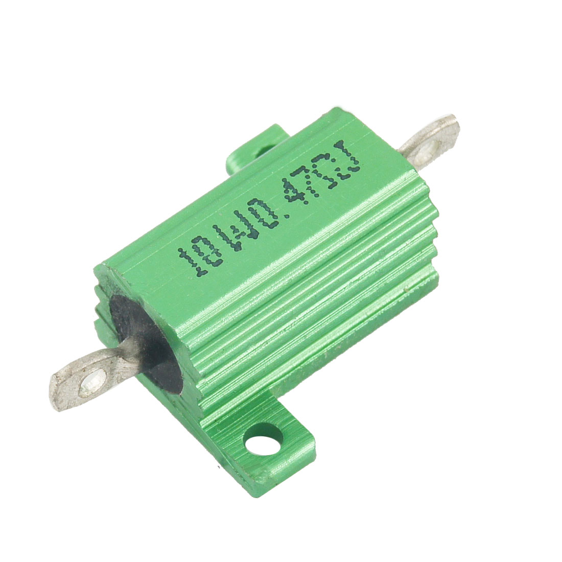 Green 10 Watt 0.47 Ohm 5% Aluminum Shell Wire Wound Resistor