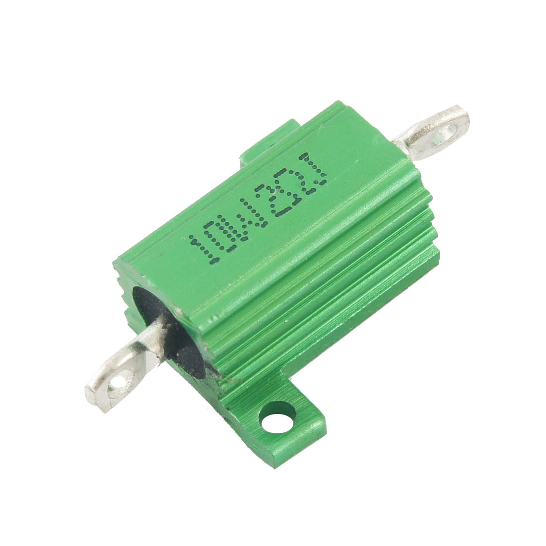 Green 10 Watt 2 Ohm 5% Aluminum Shell Wire Wound Resistor