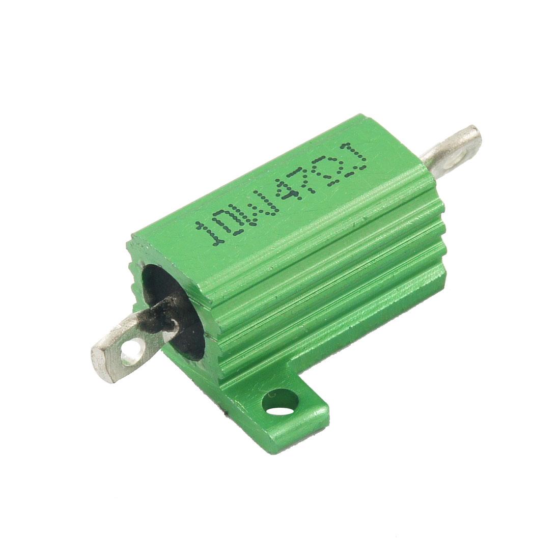 Green 10 Watt 47 Ohm 5% Tolerance Aluminum Shell Wire Wound Resistor