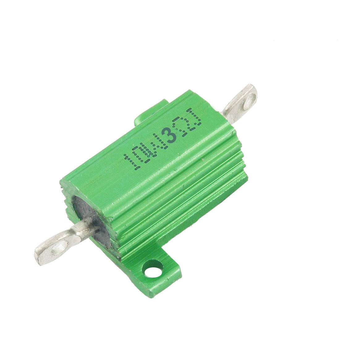 Green 10 Watt 3 Ohm 5% Aluminum Shell Wire Wound Resistor