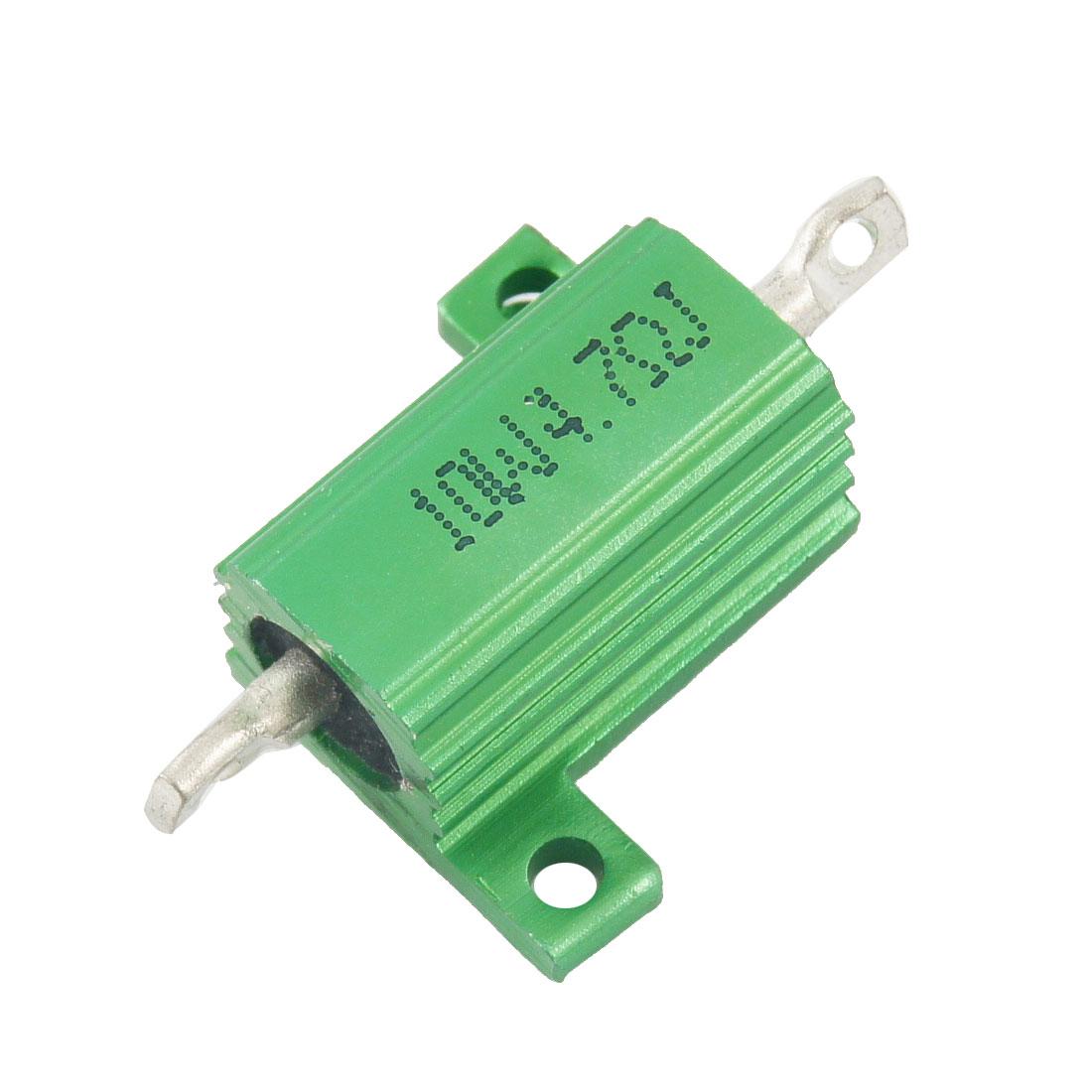 Green 10 Watt 4.7 Ohm 5% Aluminum Shell Wire Wound Resistor