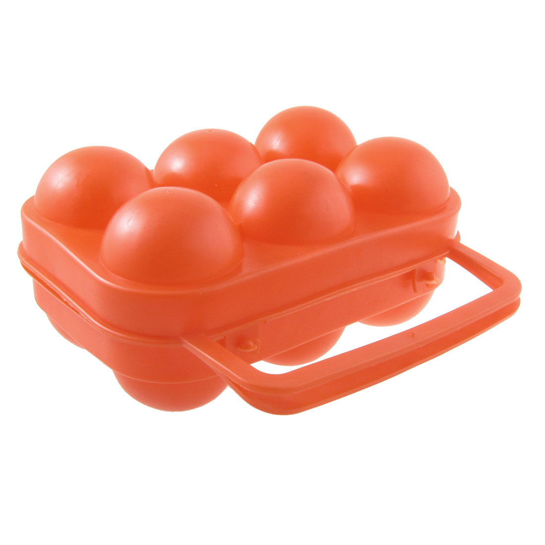 Outdoor Camping Orange Red Folding Plastic Egg Tray Box Case